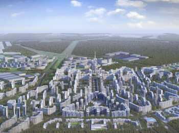 План застройки города-спутника Южный
